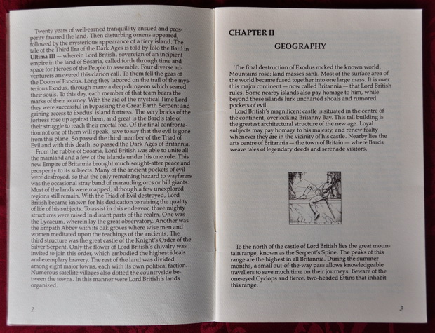 Blick in das Ultima IV Manual - The History of Britannia
