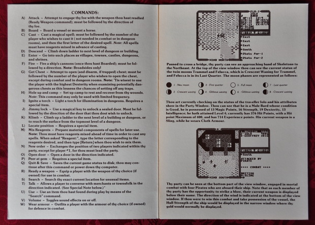 Blick in die Player Reference Card